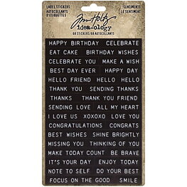 Tim Holtz - Idea-Ology - Sentiments Label Stickers