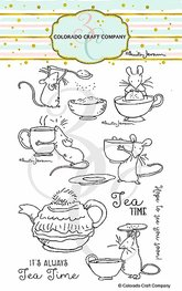 Colorado Craft - Tea Time Fun - Clearstamps