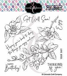 Colorado Craft - Thinking Of You Magnolias-Big & Bold - Clearstamps