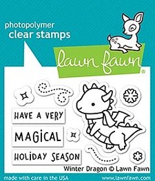 Lawn Fawn - Winter Dragon - Clearstamps
