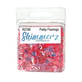 Buttons Galore - Shimmerz - Pretty Flamingo