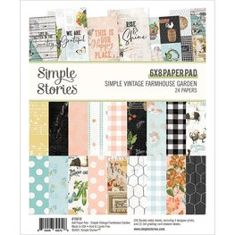 "Simple Stories - Simple Vintage Farmhouse Garden - Paper Pad 6""X8"""