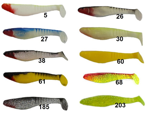Set 10 piece Rubber Fish Relax Kopyto 1/' 3,5 cm with 10 musaga Hook 4 Weight 4g
