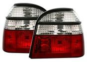 Rödvita kristall baklyktor till VW Golf 3 alla utom kombi. Höger och vänster.