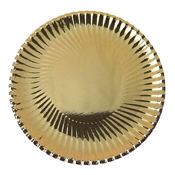 Cardboard plate gold 18 cm 10 psc