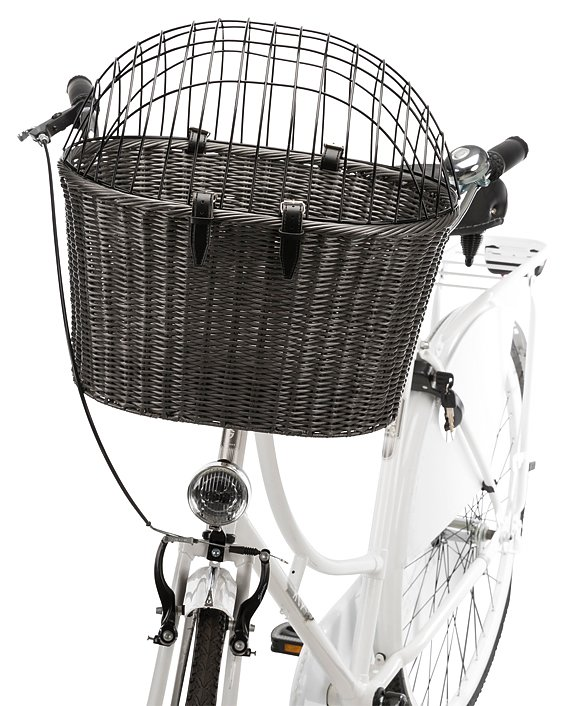 Trixie Cykelkorg Antracit med Skyddsgaller för styre