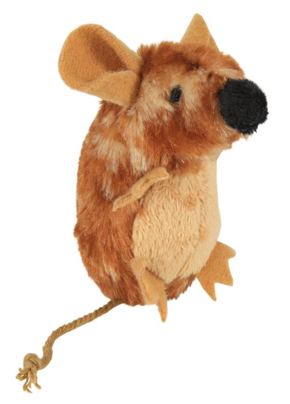 Stimulerande bra kattleksak - mus med ljud 8 cm.