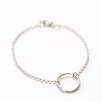 From Collection Contrasts Bracelet with circle 925 Silver.