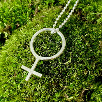 NEWS Necklace Women Symbol /Female Icon.
