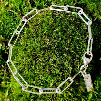 NEWS Bracelet Rectangle 925 Silver