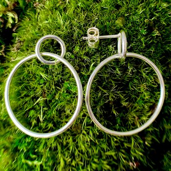 NEWS Earring  Circle in a Circle 925 Silver