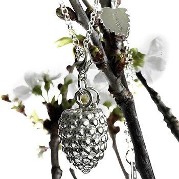 Charm Raspberrie- Robus Idaeus , 925 Silver.