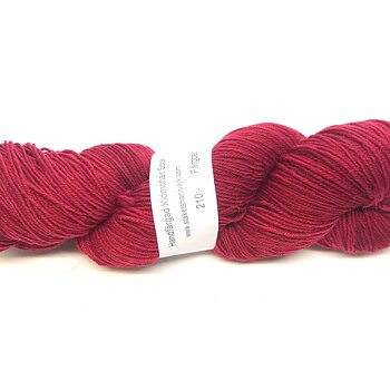 Handdyed Kid Mohair Sock Dark Red