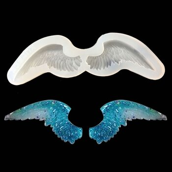 Silicone Resin Mold  angel wings 2 pcs