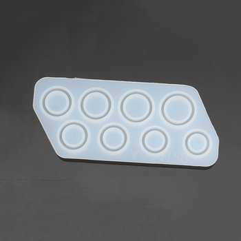 Silicone Resin Mold  Rings, 8pcs 15.20mm