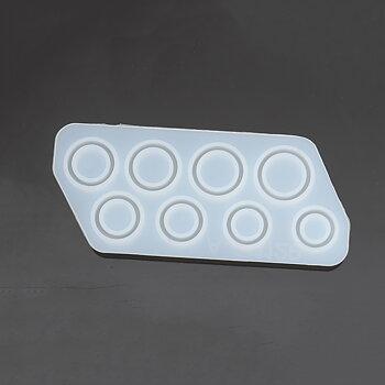 Gjutform  i silikon -  Ringar, 8st  15-20mm