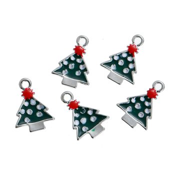 Charm   Enameld christmastree green