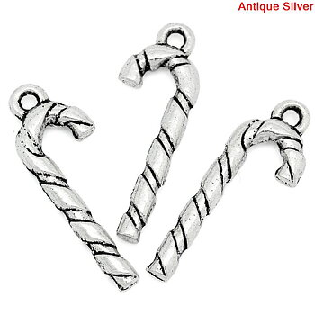 Charm   CAndy Cane silver