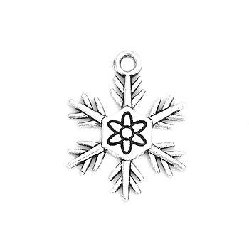 Berlock -  Snöflinga Silver