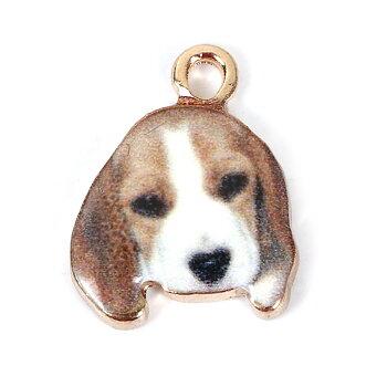 Berlock -  Emaljerad hund, Basset
