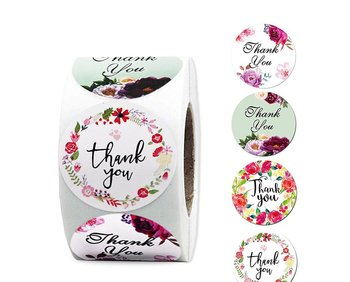 "Etikett  ""Thank you""  FLower 20pcs"
