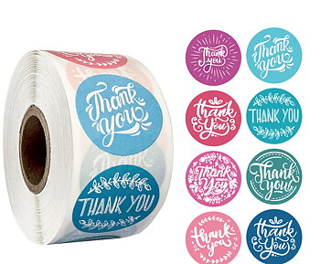 "Etikett  ""Thank you""  PAstel  20pcs"