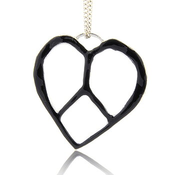 Charm   enameld heart 45mm Black