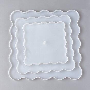 Gjutform  i silikon -  Kakfat / brickor 3 delar