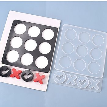 Silicone Resin Mold   Tic tac toe
