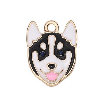 Berlock -  Emaljerad hund Husky
