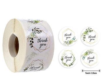 """Etikett """"Thank you"""", White. 20pcs"""