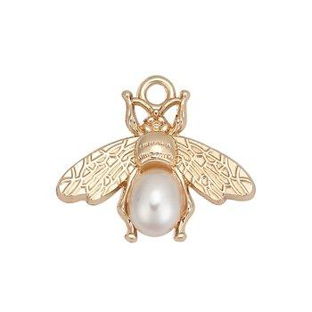 Charm   Bee w. acrylic pearl