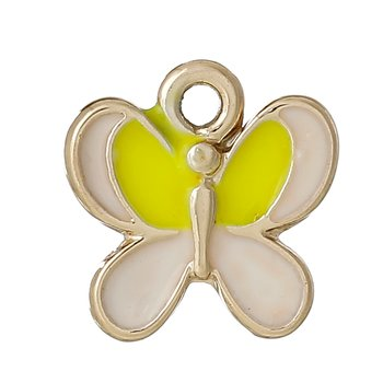 Charm   Enamel Butterfly, Yellow
