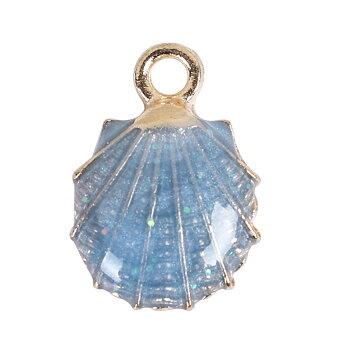 Charm   Enamel Shell  Blue