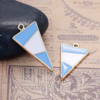 Charm   Enamel Triangle blue