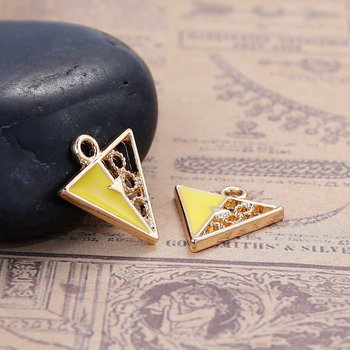 Charm   Enamel Triangle  Yellow
