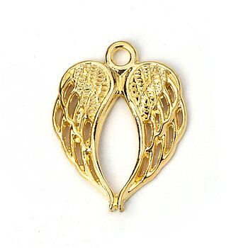Charm angel wing Gold 22mm