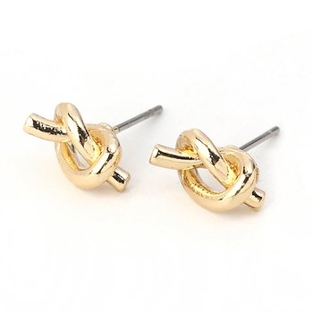 Earings  Gold knot