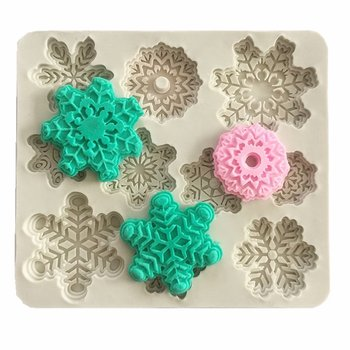 Silicone Resin Mold  Snowflakes 10pcs