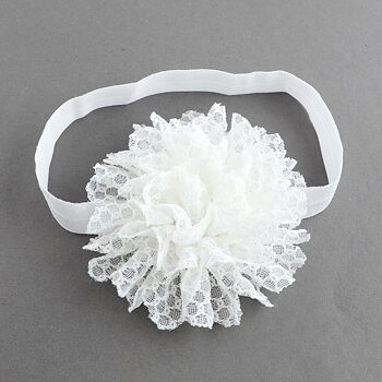 Headband - white lace