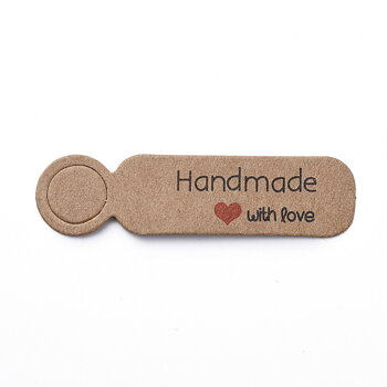 "Etikett  Tag ""Handmade with love"", Brown"