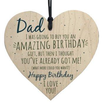 """Trätavla Hjärta """"Dad... Birthday.. """""""