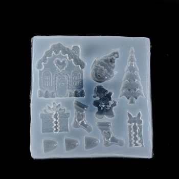 Silicone Resin Mold   Christmas theme 11pca