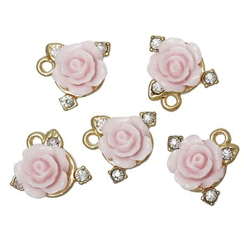 Charm -   REsin rose rhinestones
