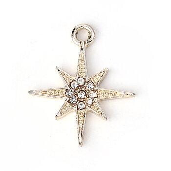 Berlock -  Stjärna m rhinestones