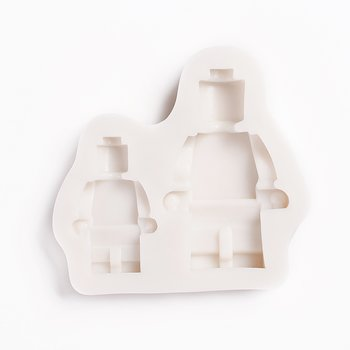 Gjutform  i silikon -  Robot / Legogubbar 2 st