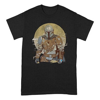 Star Wars The Mandalorian T-Shirt Distressed Warrior