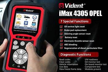 Felkodsläsare VIDENT iMax4305 Opel