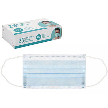 Disposable face mask 3 PLY pk-25