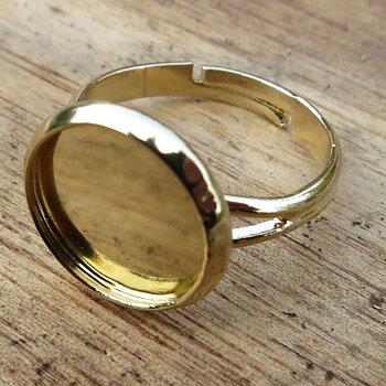 Ringstomme guldfärgad - Ram rund 12mm, 1 styck
